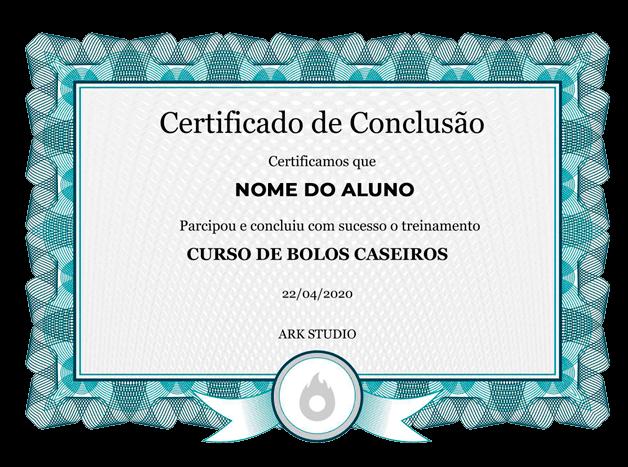 CURSO DE BOLOS CERFITICADO